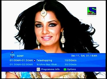 NSS 6 at 95.0 e-Indian subcontinent SPOT-packet Dish TV-12 647 H-SONY tv-n
