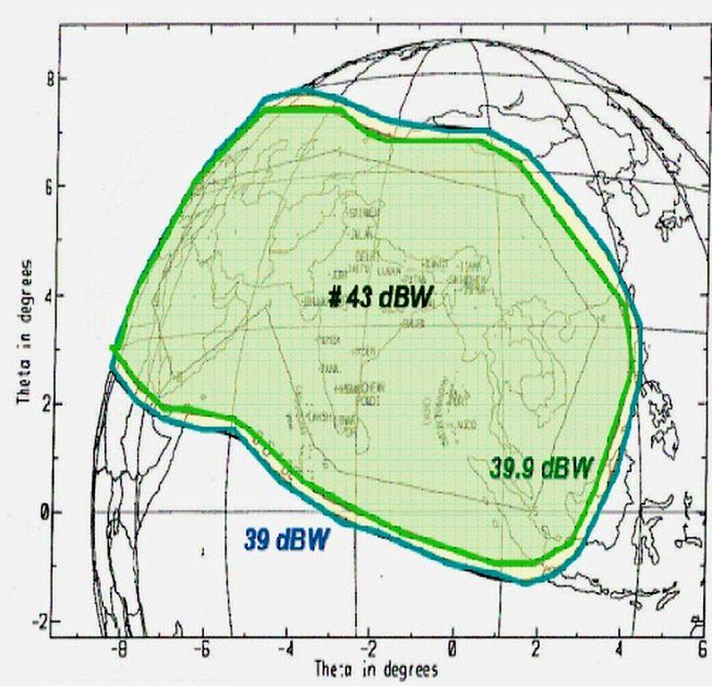 Insat 3A/4B at 93.5°E-Asia-Europe wide beam : DD Doordarshan ...