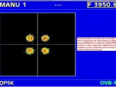 Insat 3A 4B at 93.5 e _ 4B footprint _ 3 951 H MPEG-4 Sakshi TV _ QPSK Constellation diagram