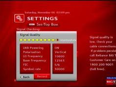 Measat 3 at 91.5 e-south asia beam-Reliance Digital TV-reception quality-12 563 V-02w
