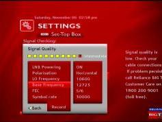 Measat 3 at 91.5 e-south asia beam-Reliance Digital TV-reception quality-12 723 H-02w