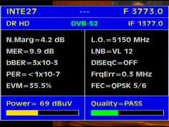 IS 907 at 27.5w_3 773 L dvb s2 packet KAL-Q data
