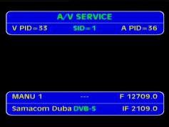 Arabsat 2B at 30.5 e _ KU footprint _12 709 V feed Samacom Dubai _ VA pids