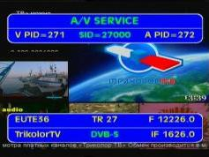 Eutelsat W4 at 36.0 e _ 12 226 LC Packet Tricolor TV _ VA pids