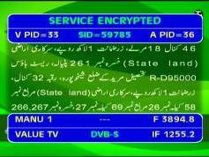 Paksat 1 at 38.0 e-C1 footprint-3 895 V Value Tv-IF data