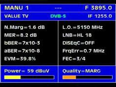 Paksat 1 at 38.0 e-C1 footprint-3 895 V Value Tv-Q data