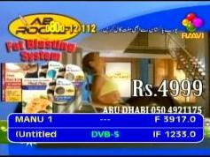Paksat 1 at 38.0 e-C1 footprint-3 917 V Raavi tv-IF data