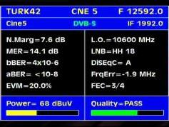 Turksat 2A 3A at 42e-12 592 H packet Cine Digital-Q data