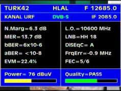 Turksat 2A 3A at 42e-12 685 H packet Turksat-Q data
