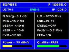 Express AM22 at 53.0 e-10 958 V UZ tv-Q data