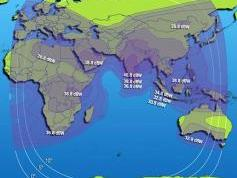 Intelsat 10 at 68.5 e_Global footprint in C band