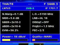 Thaicom 5 at 78.5 e-asian beam-3 448 V LNTV 3-Q data