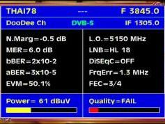 Thaicom 5 at 78.5 e-asian beam-3 845 V Dodee Channel-Q data