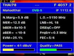 Thaicom 5 at 78.5 e-asian beam-4 037 V Mahadthai tv-Q data
