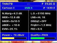 Thaicom 5 at 78.5 e-global beam-3 520 H Modernine tv-Q data