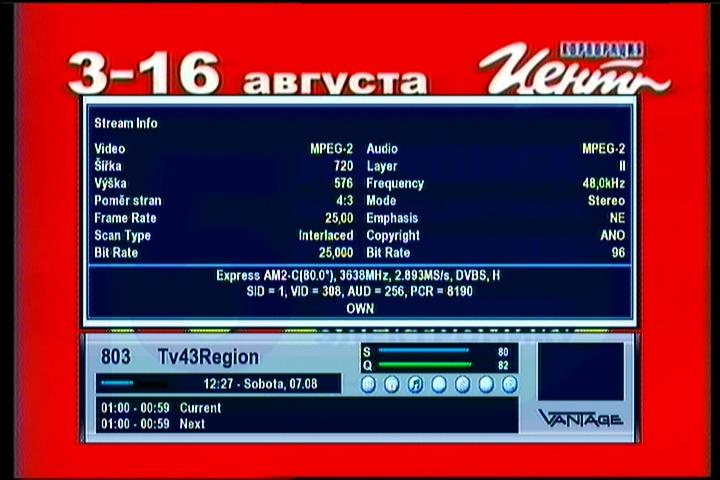 Express MD1 at 80 0°E | CZECH AND SLOVAK DX SATELLITE CLUB