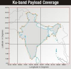 Insat 4A at 83E KU Indian beam footprint