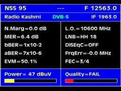 Measat 3 at 91.5 E _ KU SPOT South Asia _ 12 563 V Packet Big TV India _  Q  data