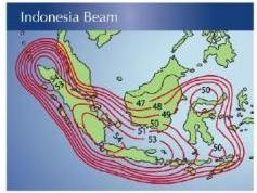 Measat 3 at 91.5E KU South Indonesia beam