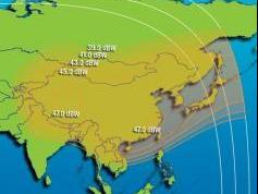 Intelsat 4 at 72.0E North East Asia footprint  01