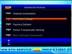 Insat 4B at 93 5°E packet SUN Direct DTH Irdeto decoder