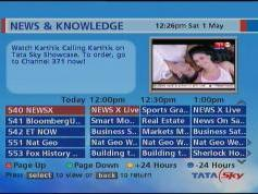 Insat 4A at 83.0 e_Packet TATA Sky India_EPG_11