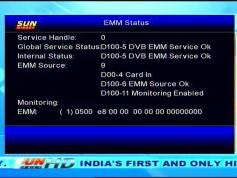 Insat 4B at 93.5 e_SUN Direct dth_DVB-S2-MPEG-4-HD Samsung DSB-B580R menu_EMM status_23